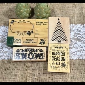 Michaels Christmas Wooden Stamps